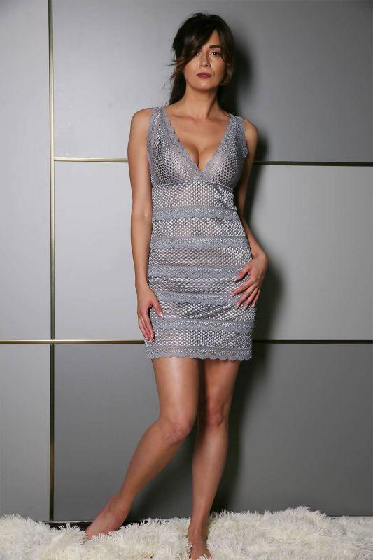Женская ночная рубашка Effetto 10401C графитовый