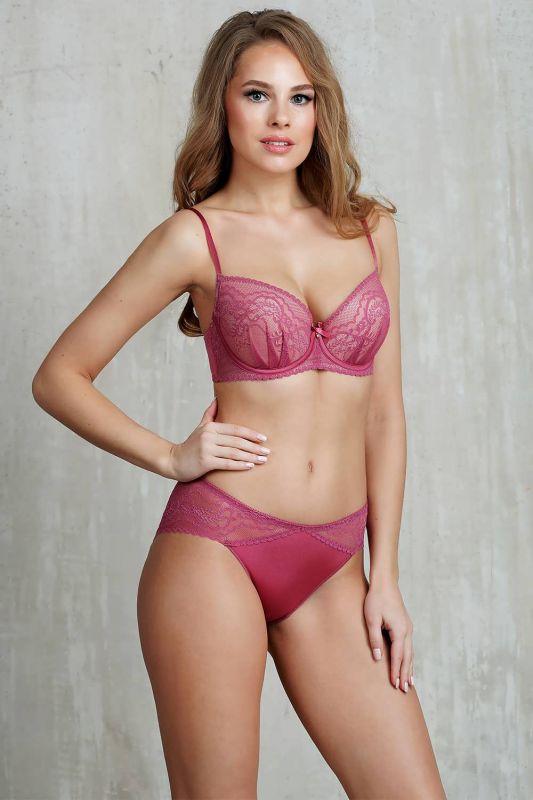 714540 Жіночі трусики ZeBra рожевий-рубін