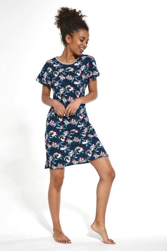 167-20 Женская ночная рубашка 267 Milly Cornette голубой-коралловый