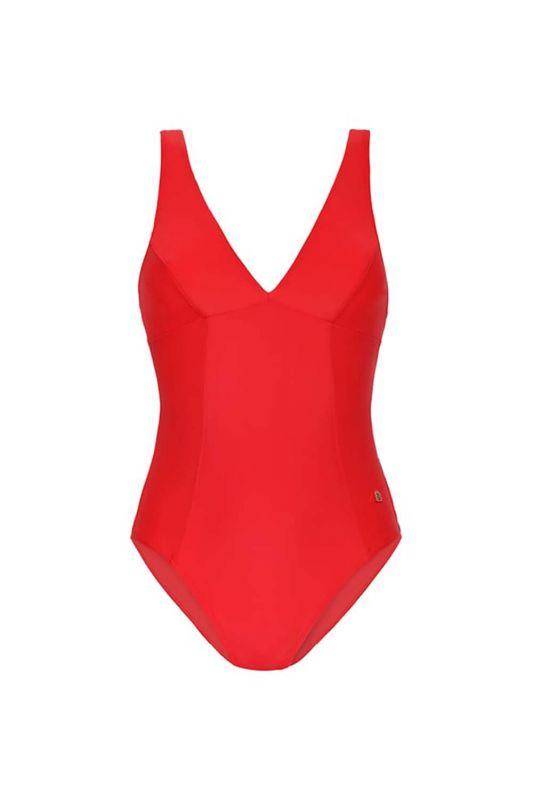 070306-459 Женский сплошной купальник BeachLife красен