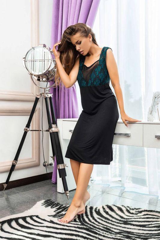 03142 Жіноча нічна сорочка Effetto чорний
