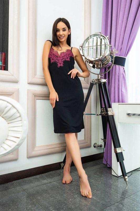 03135/1 Жіноча нічна сорочка Effetto чорний