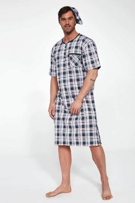 109-21 3-5XL Мужская ночная рубашка 06 Cornette принт