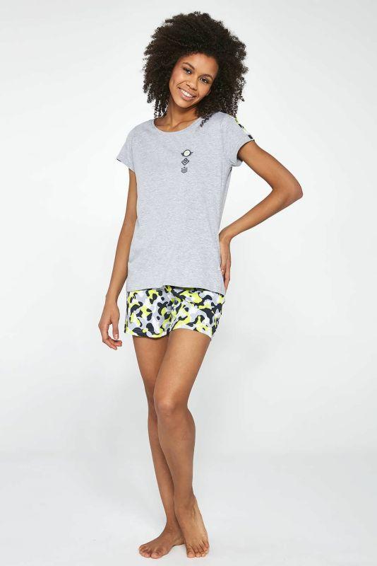 277-21 Пижама для девушек подростков 31 Camo Cornette меланжевый-серый-зеленый