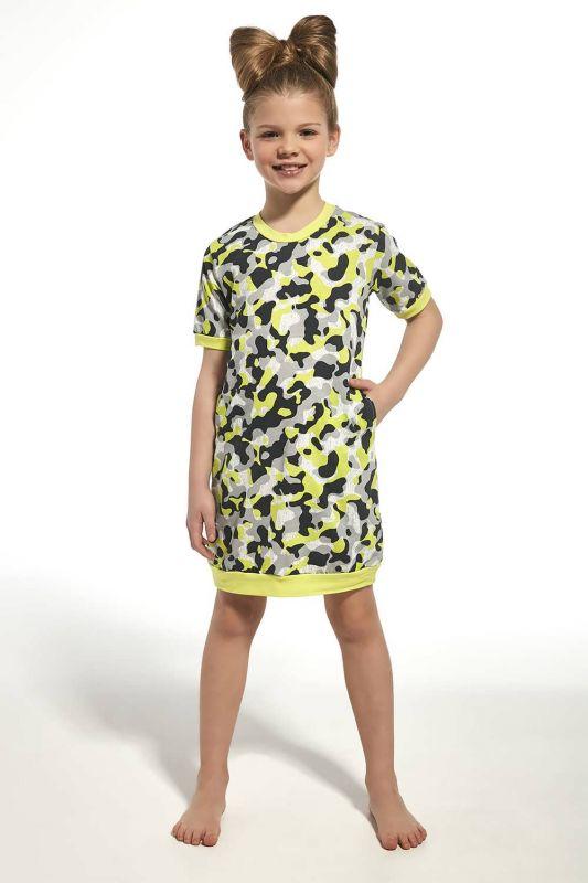 284-21 Ночная рубашка для девушек 69 Girl 2 Cornette серый-зеленый