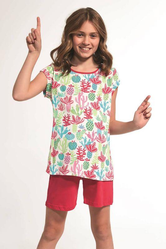 357-21 Піжама для дівчат 79 Cactus Cornette рожевий-зелений