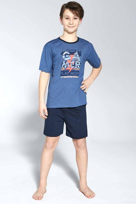 476-21 Пижама для мальчиков подростков 92 Gamer Cornette джинсовий-темно-синий