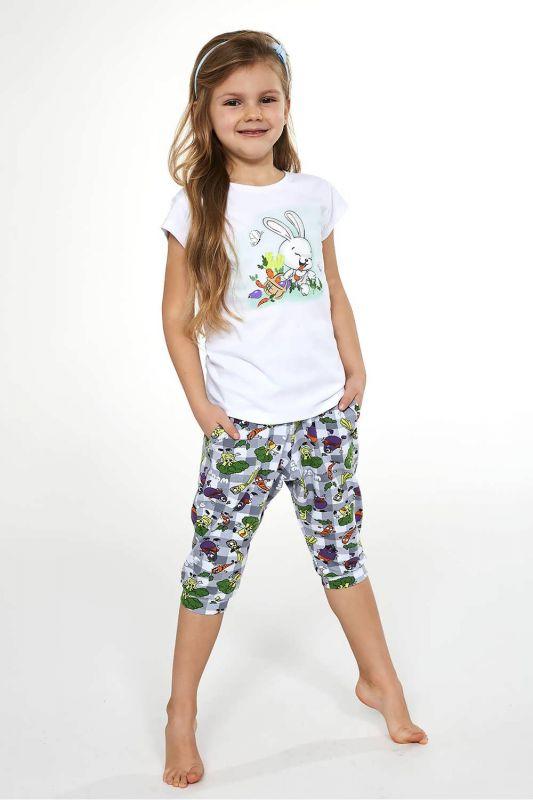 487-21 Пижама для девушек 84 Bunny Cornette белый