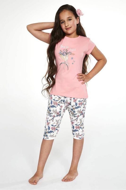 491-21 Пижама для девушек подростков 88 Perfect Cornette розовый-бежевый