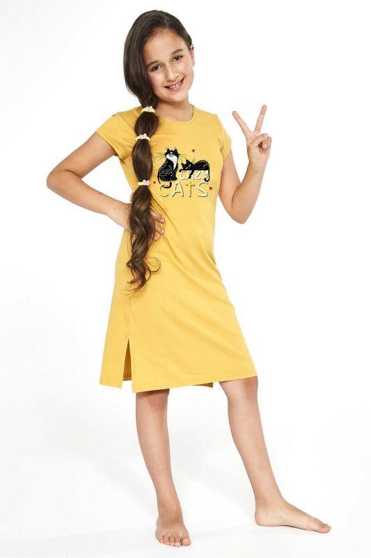 494-21 Ночная рубашка для девушек подростков 90 Cats 2 Cornette медовый