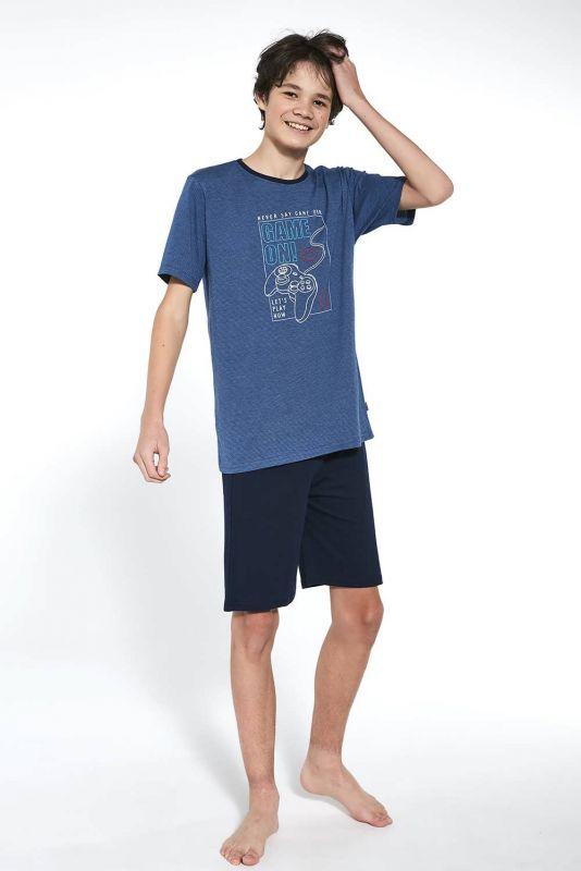 519-21 Пижама для мальчиков подростков 36 Game on Cornette джинсовий-темно-синий