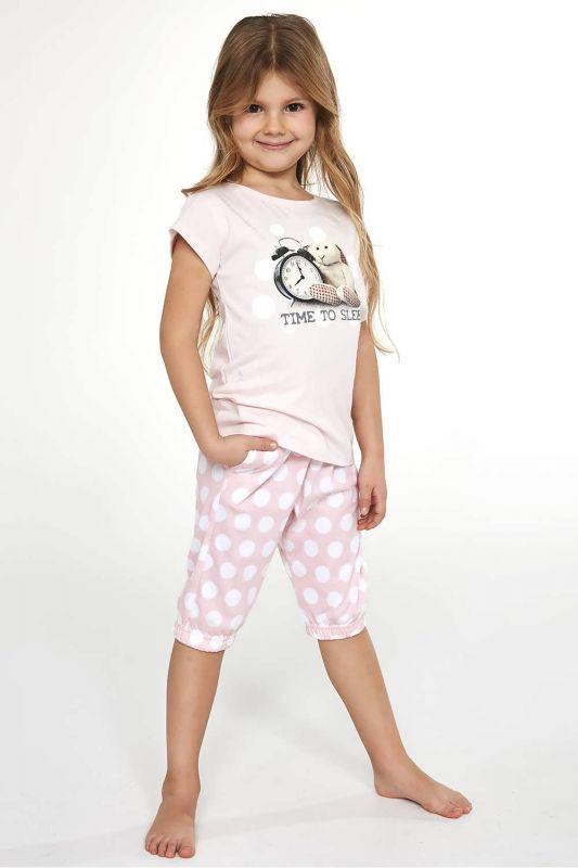 570-21 Пижама для девушек 89 Time to sleep Cornette розовый-белый