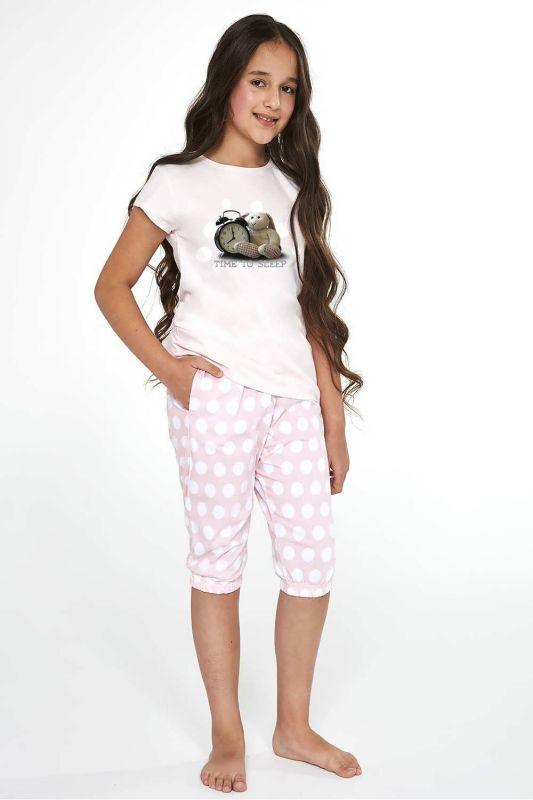 571-21 Пижама для девушек подростков 89 Time to sleep Cornette розовый-белый