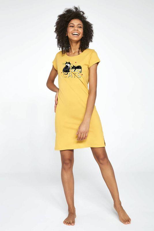 612-21 Женская ночная рубашка 206 Cats 2 Cornette медовый