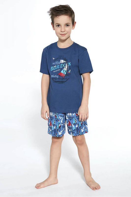 789-21 Пижама для мальчиков 96 Blue dock Cornette джинсовый