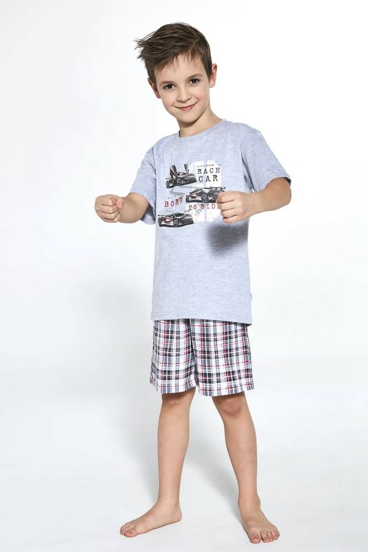 789-21 Пижама для мальчиков 97 Race car Cornette меланжевый-графитовый