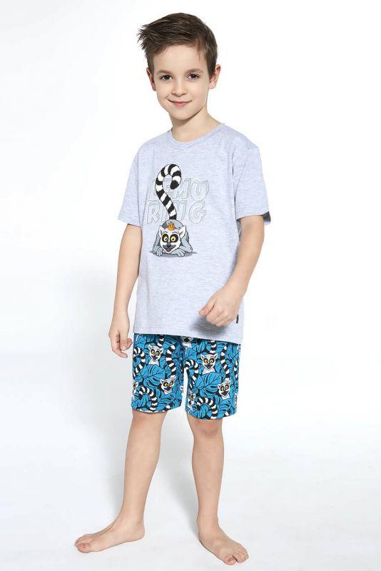 790-21 Пижама для мальчиков подростков 95 Lemuring Cornette меланжевый-бирюзовый
