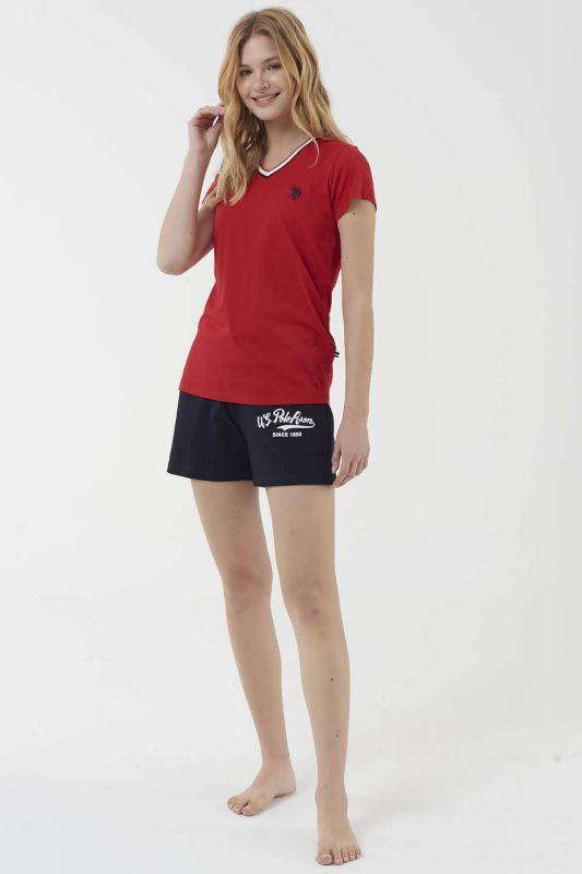 16502 Пижама женская U.S. Polo ASSN красный