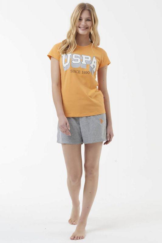 16511 Пижама женская U.S. Polo ASSN оранжевый
