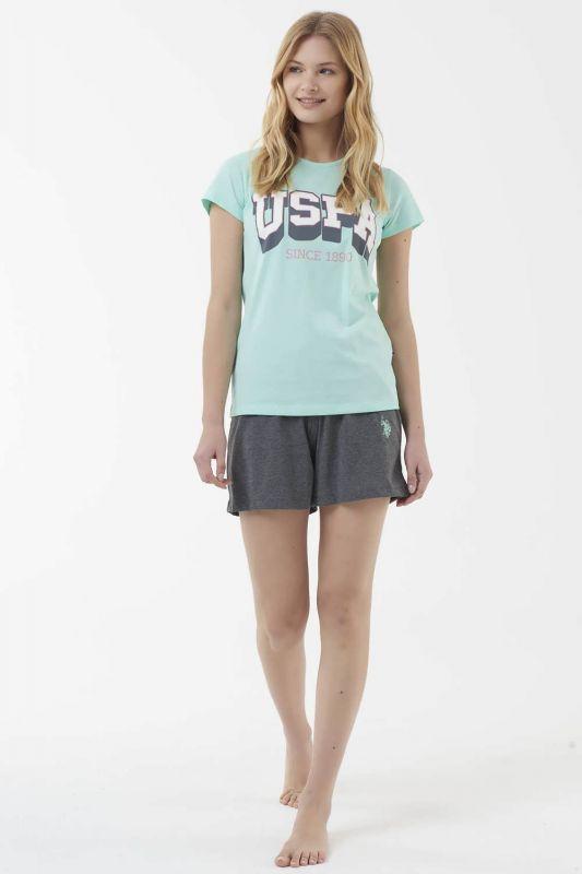 16511 Пижама женская U.S. Polo ASSN мятный