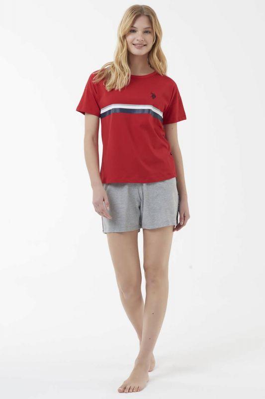 16514 Пижама женская U.S. Polo ASSN красный