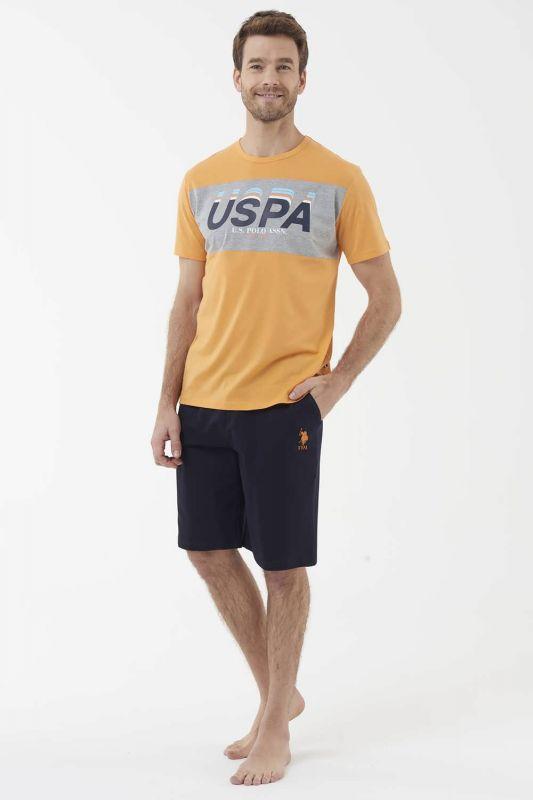 18403 Мужская пижама U.S. Polo ASSN оранжевый