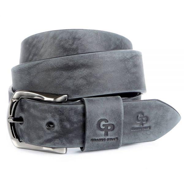 Элитный мужской кожаный ремень под джинсы GRANDE PELLE 00973