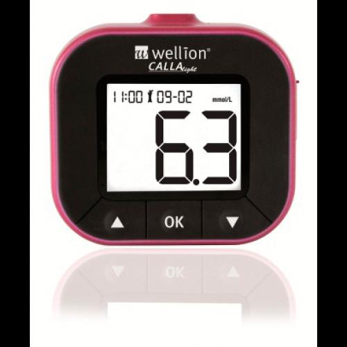Глюкометр Wellion Calla Light Blackberry система для виміру рівня цукру в крові безкодова