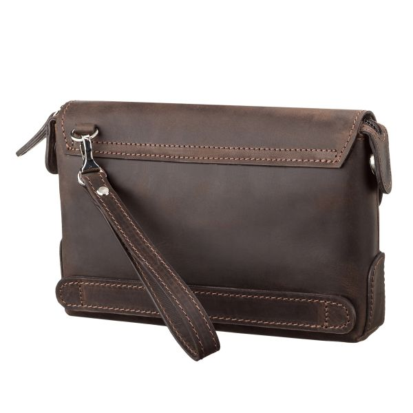 Мужской клатч SHVIGEL 11085 кожаный коричневый