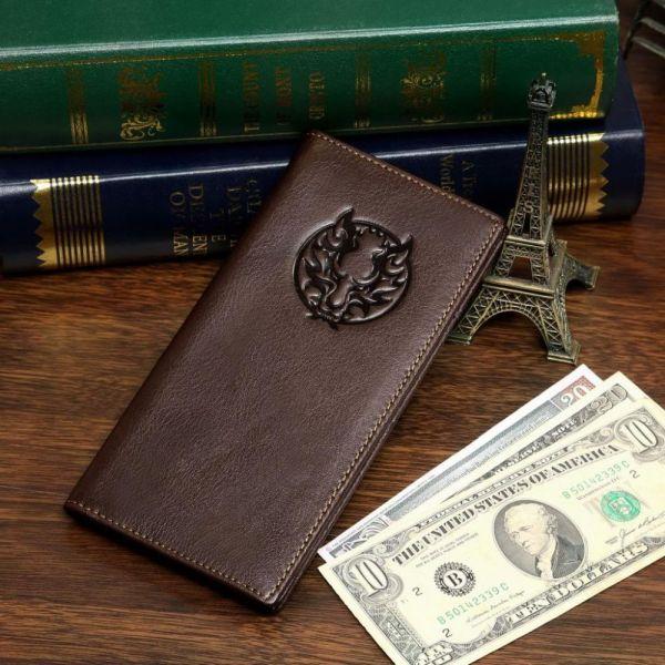 Купюрник мужской Vintage 14173 кожаный коричневый