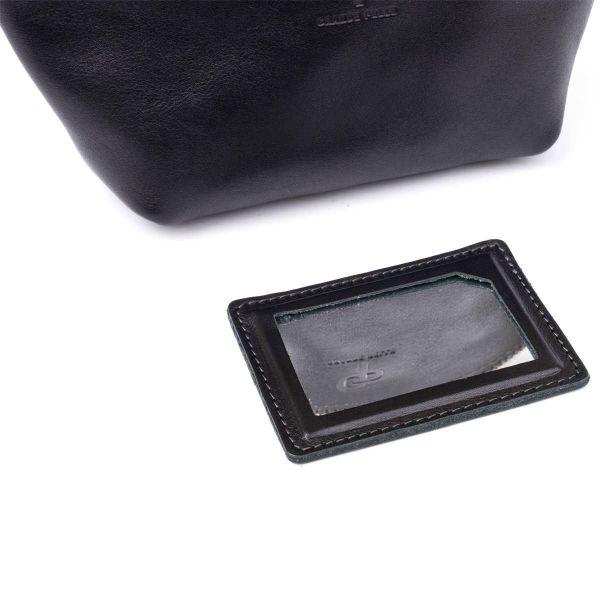 Женская косметичка из кожи Amelin GRANDE PELLE 11302 черная