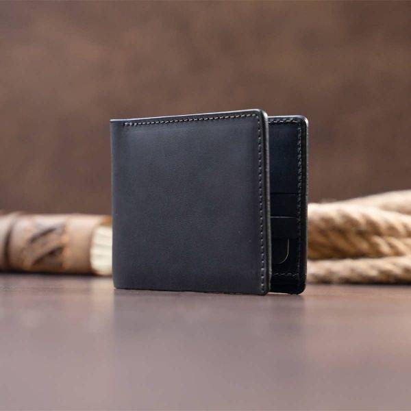 Портмоне на одно отделение в матовой коже GRANDE PELLE 11309 Черное