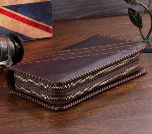 Мужской клатч Vintage 14202 коричневый