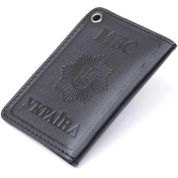 Компактная обложка на документы МВД Украины SHVIGEL 13980 Черная