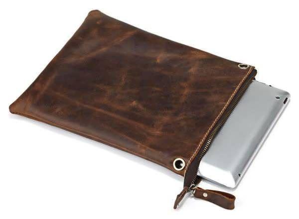 Сумка-планшет из натуральной винтажной кожи 14061