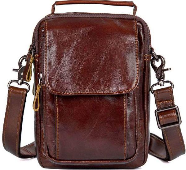 Сумка Vintage 14528 из натуральной кожи коричневая