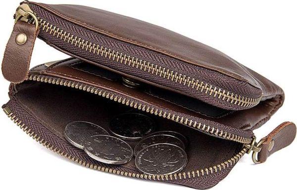 Кошелек Vintage 14530 из натуральной кожи коричневый