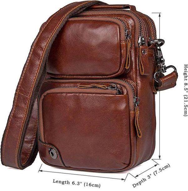Сумка Vintage 14543 из натуральной кожи коричневая
