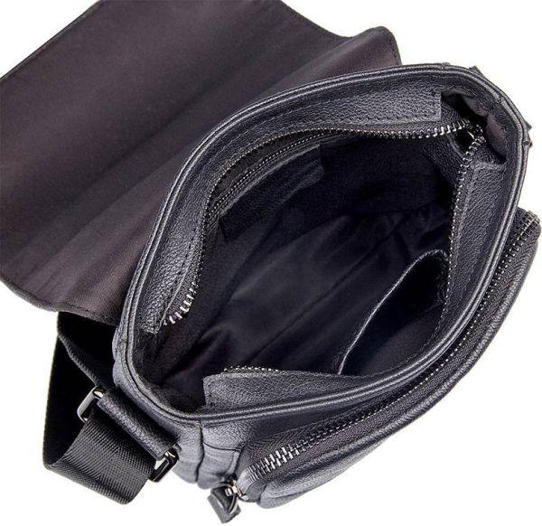 Сумка Vintage 14545 из натуральной кожи черная