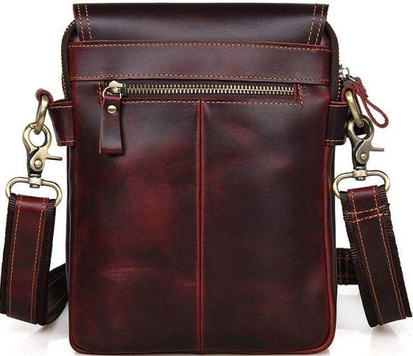 Сумка Vintage 14547 из натуральной кожи бордовая