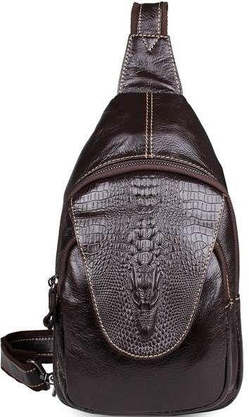 Сумка мужская Vintage 14559 из натуральной кожи коричневая