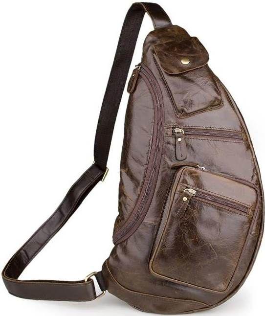 Сумка мужская Vintage 14560 из натуральной кожи коричневая
