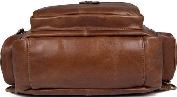 Сумка мужская Vintage 14561 из натуральной кожи коричневая