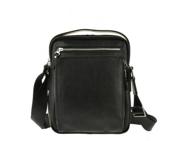 Сумка мессенджер Vintage 14578 кожаная черная