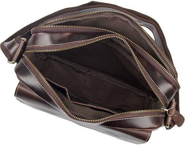 Сумка мужская Vintage 14584 кожаная коричневая