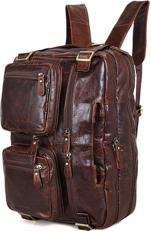 Сумка мужская Vintage 14590 кожаная коричневая