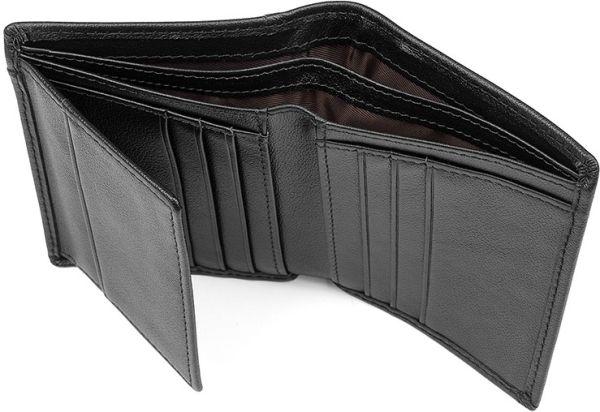 Кошелек мужской Vintage 14594 кожаный черный