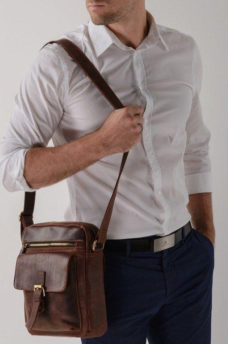 Сумка мужская Vintage 14638 из винтажной кожи рыжий