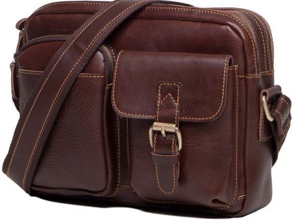Сумка мужская Vintage 14639 кожаная коричневая