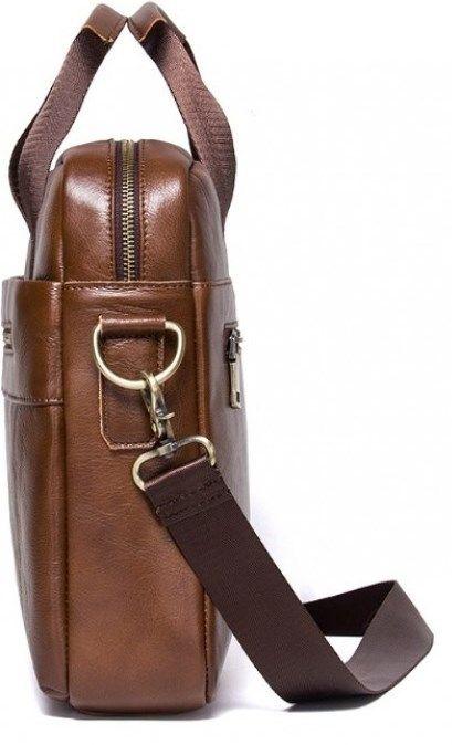 Сумка вместительная Vintage 14642 кожаная коричневая